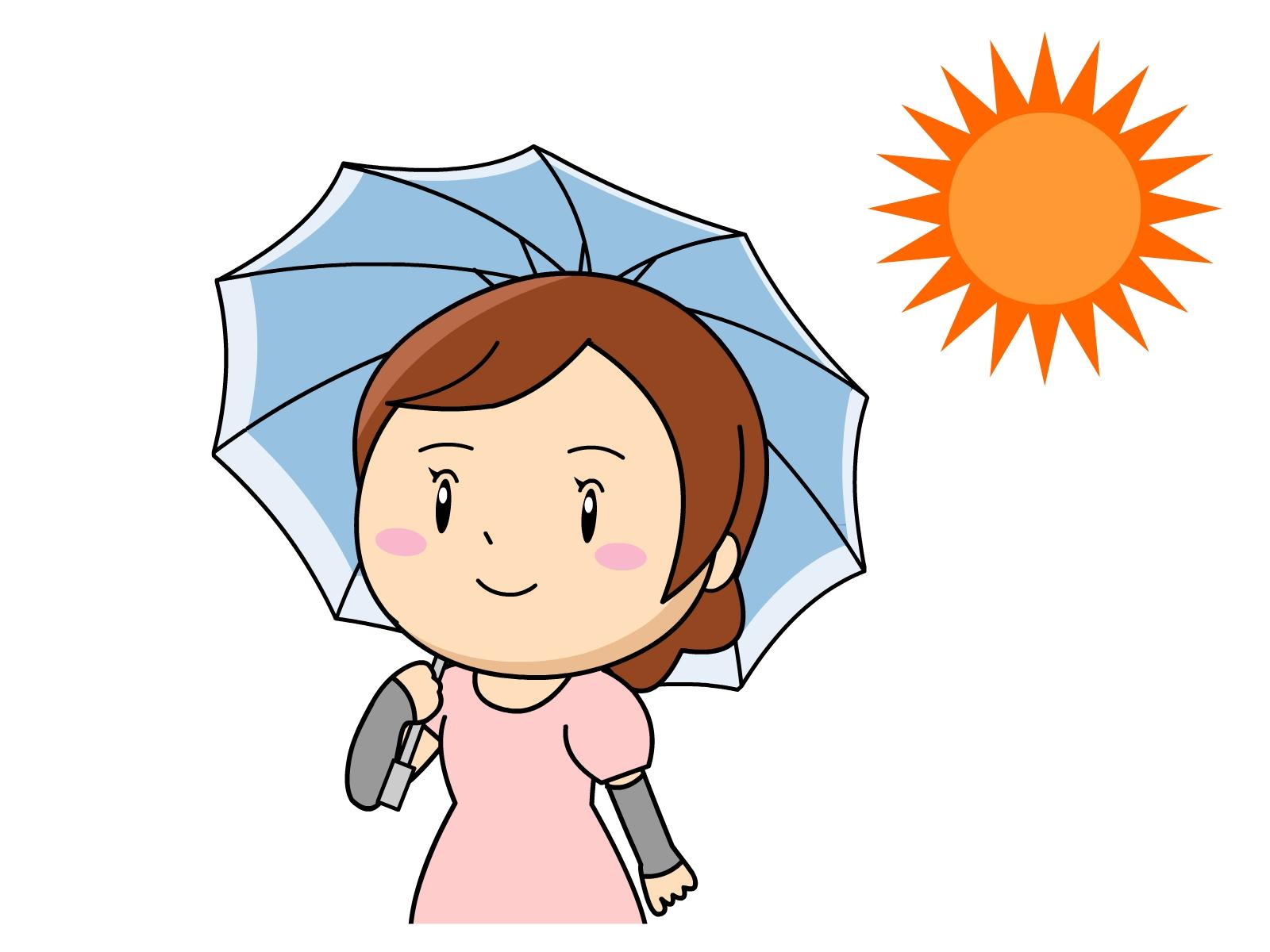 紫外線対策の日傘
