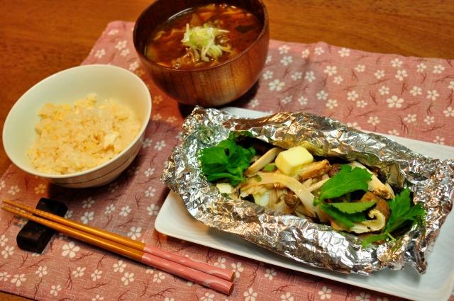 松茸の食卓