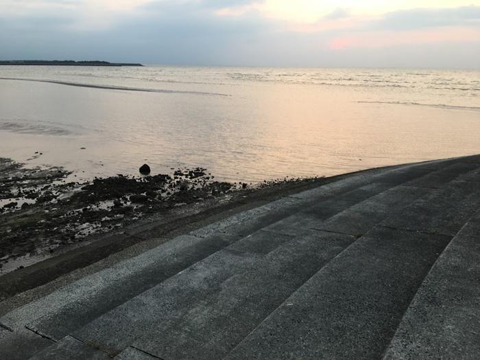 真玉海岸の石段