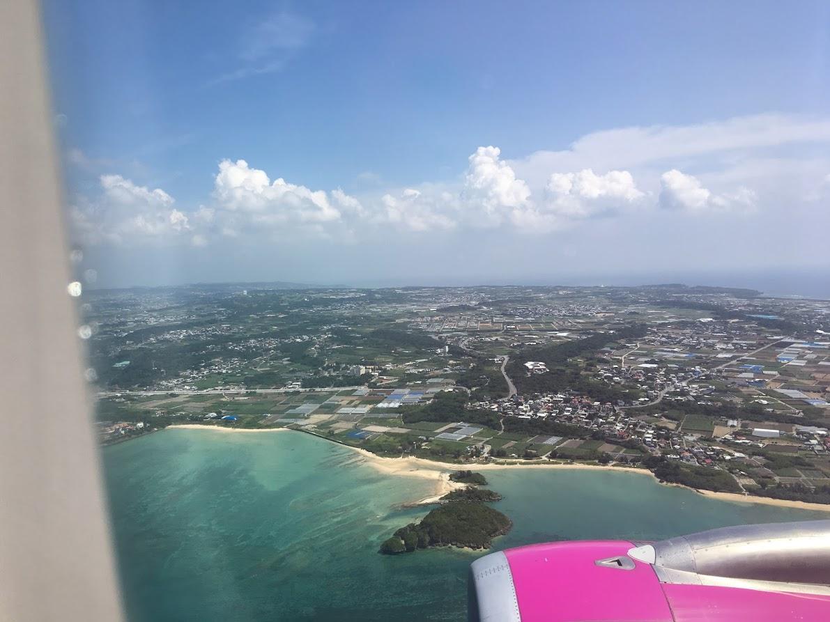 飛行機からみた沖縄