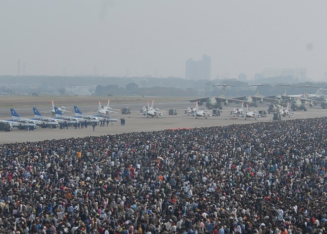 入間航空祭の混雑模様