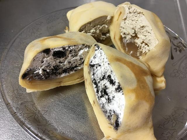 パオクレープミルクのチョコチップクッキー味とほうじ茶味