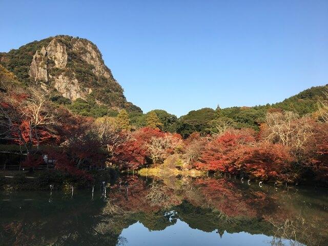 御船山楽園の紅葉風景