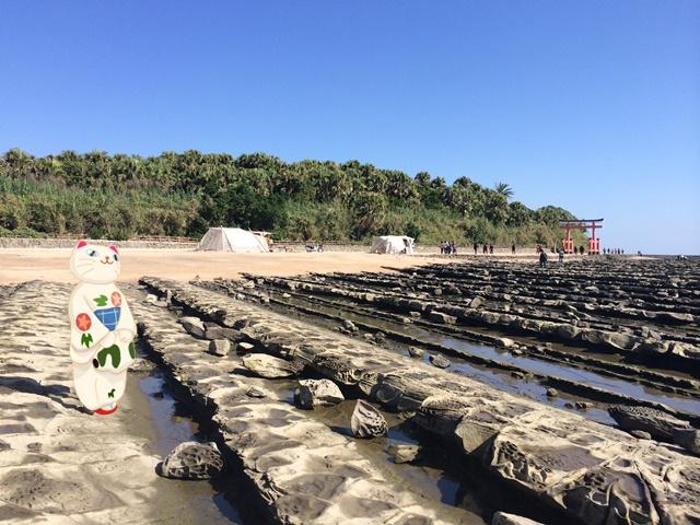 青島神社の鬼の洗濯板