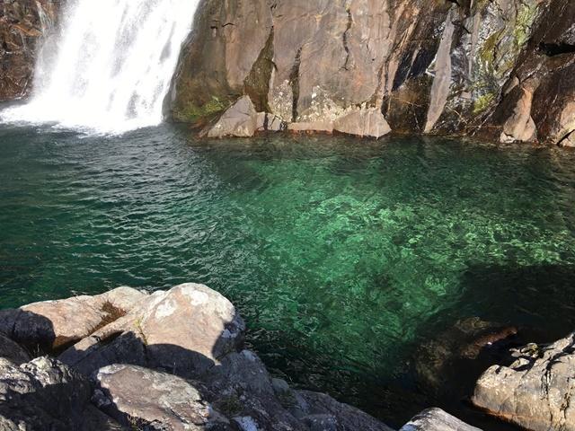 大川の滝つぼ