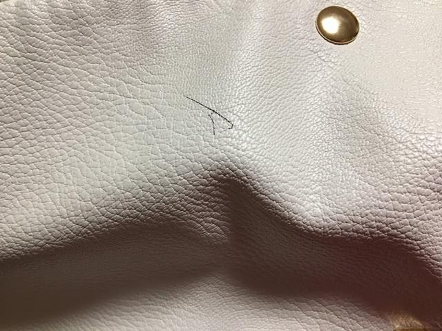 バッグについたボールペンのインク