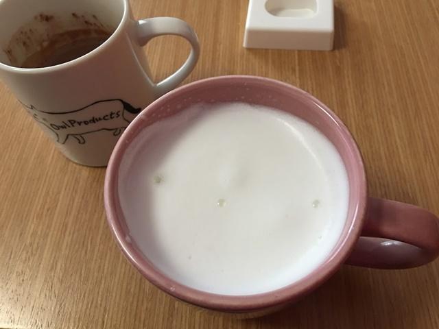 泡になったミルク