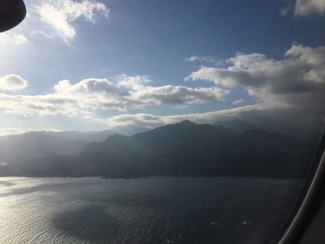 飛行機からみた屋久島
