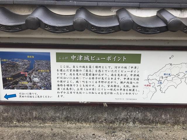 中津城ビュースポットの案内