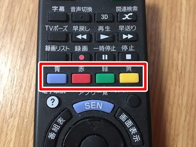 デジタル対応テレビのリモコン