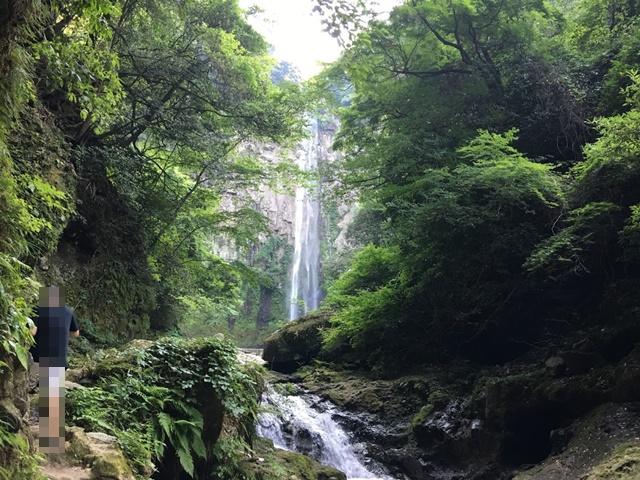 見えてきた東椎屋の滝