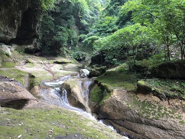 東椎谷の滝への道のり