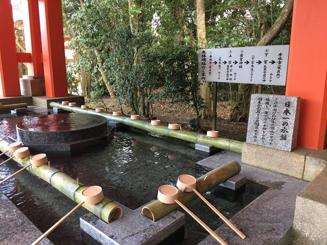 宇佐神宮の手水舎