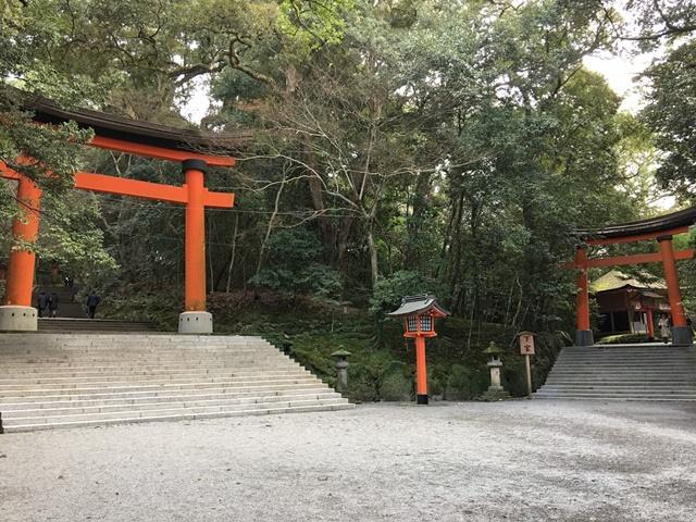 宇佐神宮本殿に繋がる石段