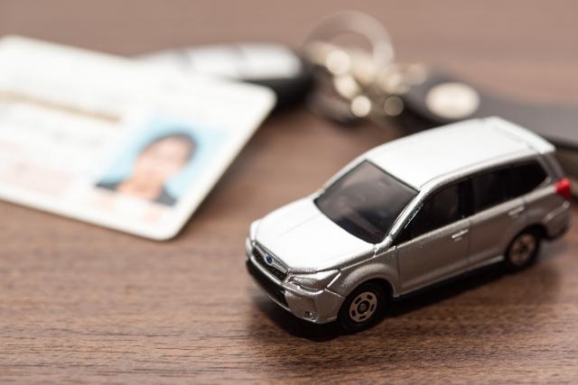 免許証とミニカー