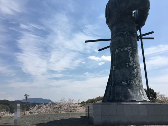 弥五郎どん像の大きさくらべ