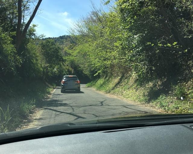 花立公園への道のり