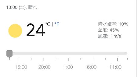本日の天気と気温