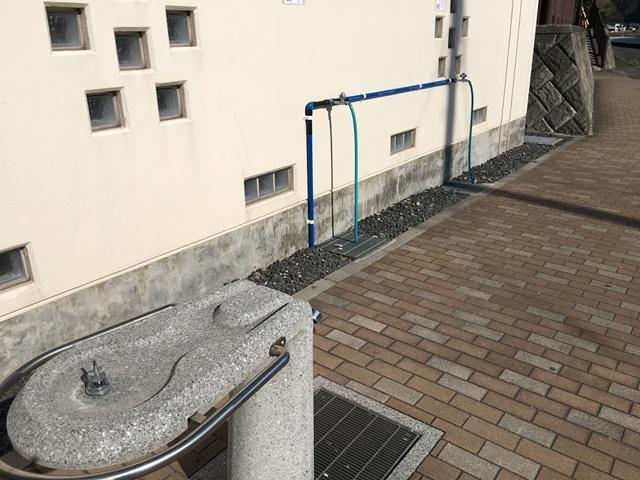 荒平天神のトイレにある足洗い場