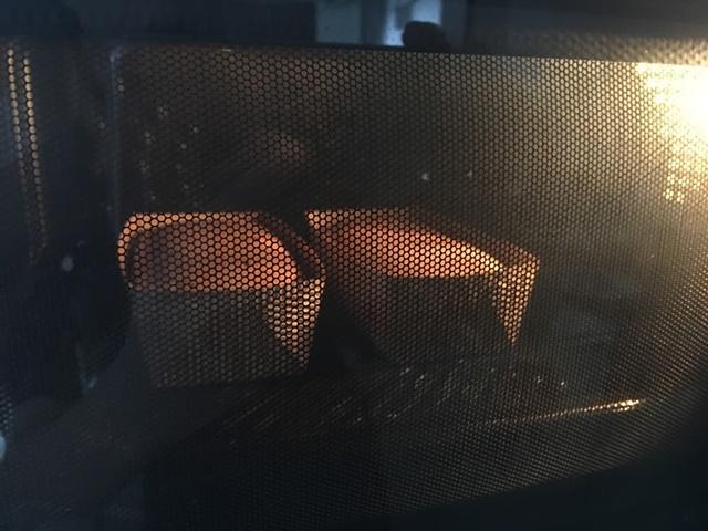 膨らんできたパウンドケーキ