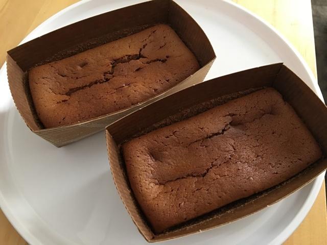 焼きあがったパウンドケーキ